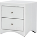 Dorian 2 Drawers Faux Leather Nightstand - White - WI-BBT3106-WHITE-NS