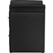 Victoria Faux Leather Nightstand - 2 Drawers, Black - WI-BBT3111A1-BLACK-NS