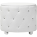 Davina 2 Drawers Faux Leather Nightstand - White - WI-BBT3119-WHITE-NS