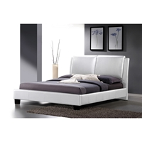 Sabrina Full Platform Bed - White