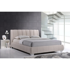 Marzenia Fabric Queen Platform Bed - Light Beige