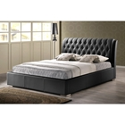 Bianca Full Platform Bed - Tufted, Black