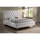 Stella Platform Bed - Crystal Tufted, White