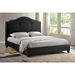 Marsha Scalloped Platform Bed - Nailheads - WI-BBT6292-LT-BED