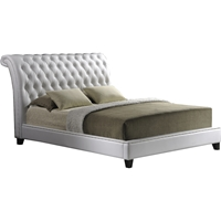 Jazmin Nailheads Platform Bed - Button Tufted