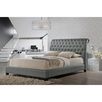 Jazmin Button Tufted Platform Bed - Nailheads