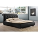 Pergamena Leather Platform Bed - Button Tufted - WI-BBT6428-BLACK-BED