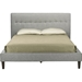 Callasandra Linen Platform Bed - Button Tufted - WI-BBT6441