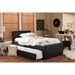 Cosmo Faux Leather Twin Trundle Bed - Black - WI-BBT6469-TWIN-BLACK