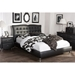 Erin Faux Leather Platform Bed - Faux Cristal - WI-BBT6474-BED