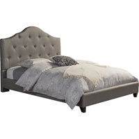 Anica Scalloped Fabric Platform Bed - Button Tufted