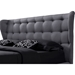 Bellissimo Fabric Upholstered Platform Bed - Button Tufted - WI-BBT6487A2