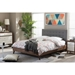 Alinia Upholstered Platform Bed - Walnut Wood - WI-BBT6557-BED