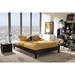 Lancashire Faux Leather Platform Bed - Faux Leather - WI-BBT6598-LT-BED