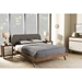 Penelope Upholstered Platform Bed - Button Tufted - WI-BBT6607-BED