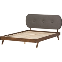 Penelope Upholstered Platform Bed - Button Tufted