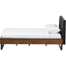 Mitchell Platform Bed - Faux Leather Headboard, Grid-Tufting - WI-BBT6652-BED-FL