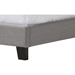Benjamin Linen Upholstered Twin Arched Bed - Nailhead, Gray - WI-BENJAMIN-TWIN-GRAY