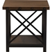 Herzen 1 Shelf End Table - Antique Black and Brown - WI-CA-1117-ET