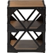 Hudson 2 Shelves Side Table - Antique Black and Brown - WI-CA-1120-ET