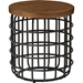 Carie Round Accent Table - Brown, Black - WI-CA-1123