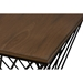 Otto Geometric Occasional Side Table - Brown, Antique Black - WI-CA-1124-ET