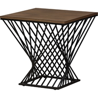Otto Geometric Occasional Side Table - Brown, Antique Black