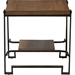 Gibson Square End Table - Brown, Black - WI-CA-1126-ET