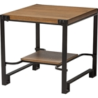 Gibson Square End Table - Brown, Black