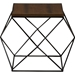 Stilo Rectangular End Table - Brown/Black - WI-CA-1135-ET
