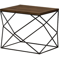 Stilo Rectangular End Table - Brown/Black