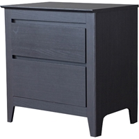Carolina 2 Drawers Nightstand - Dark Brown