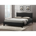 Battersby Faux Leather Platform Bed - Nailhead - WI-CF8276-LT-BED