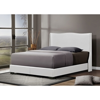 Duncombe Queen Platform Bed - White