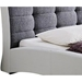 Guerin Platform Bed - Tufted, White - WI-CF8540-WHITE-GRAY-BED