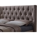 Kensington Tall Platform Bed - Diamond Shaped Tufting, Brown - WI-CF8565-BROWN-BED