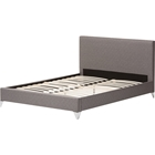Harlow Quilted Fabric Upholstered Platform Bed - Gray