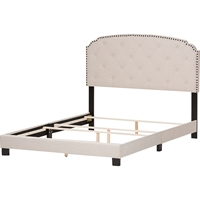 Lexi Upholstered Bed - Curvaceous Headboard, Nailheads