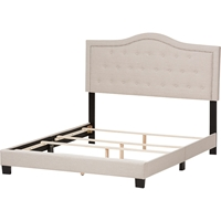 Emerson Upholstered Bed - Curvaceous Headboard, Nailheads