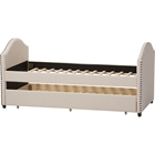 Alessia Upholstered Daybed - Guest Trundle Bed, Beige