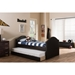 Alessia Faux Leather Daybed - Guest Trundle Bed, Dark Brown - WI-CF8751-BROWN-DAY-BED