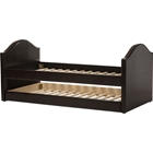 Alessia Faux Leather Daybed - Guest Trundle Bed, Dark Brown
