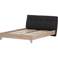 Adelia Platform Bed - Grid-Tufting Headboard