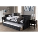 Alena Daybed with Trundle - Dark Gray - WI-CF8825-DARK-GRAY-DAYBED