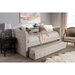 Alena Daybed with Trundle - Light Beige - WI-CF8825-LIGHT-BEIGE-DAYBED