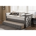 Alena Daybed with Trundle - Light Gray - WI-CF8825-LIGHT-GRAY-DAYBED