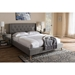 Adelaide Upholstered Platform Bed - Tufted, Winged Headboard - WI-CF8862-BED