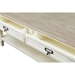 Dauphine 2 Drawers Accent Coffee Table - White, Light Brown - WI-CHR15VM-M-B-C