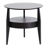 Gretton Black Wood Round End Table
