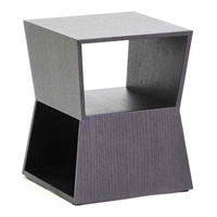 Marche Black Wood End Table